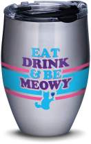 Tervis 1314705 Snorg Tees - Eat Drink Meowy Stainless Steel Insulated Tumbler with Lid, 12 oz, Silver
