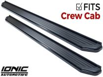 Ionic 41 Series Black (fits) 2016-2018 Dodge Ram Crew Cab ONLY Running Boards Side Steps (41108382080)