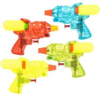 """CUZAIL Party Favors- Water Gun Blaster Squirt Toys 5.5"""" Each - Summer Fun - Swimming Pool Beach Sand Toys, Water Soaker - Pack of 12 in Bright Colors"""