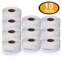 "BETCKEY - Compatible DYMO 30330 (3/4"" x 2"") Multipurpose/Return Address Labels - Compatible with Rollo, DYMO Labelwriter 450, 4XL & Zebra Desktop Printers[10 Rolls/5000 Labels]"