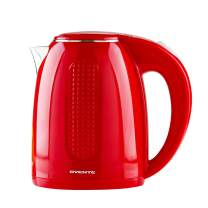 Ovente Electric Hot Water Kettle 1.7 Liter BPA-Free with Double Walled Stainless Steel, 1100 Watts with Fasting Heating Element and Auto Shutoff Boil Dry Protection, Red (KD64R)