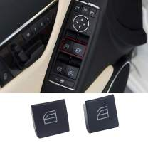 Jaronx for Mercedes Benz Window Switch Button Covers,Power Window Control Switch Buttons for Mercedes Benz C-Class W204 C230 C280 C300 C350, E-Class W212,GLK-Class X204 GLK350(Not for 2013+)