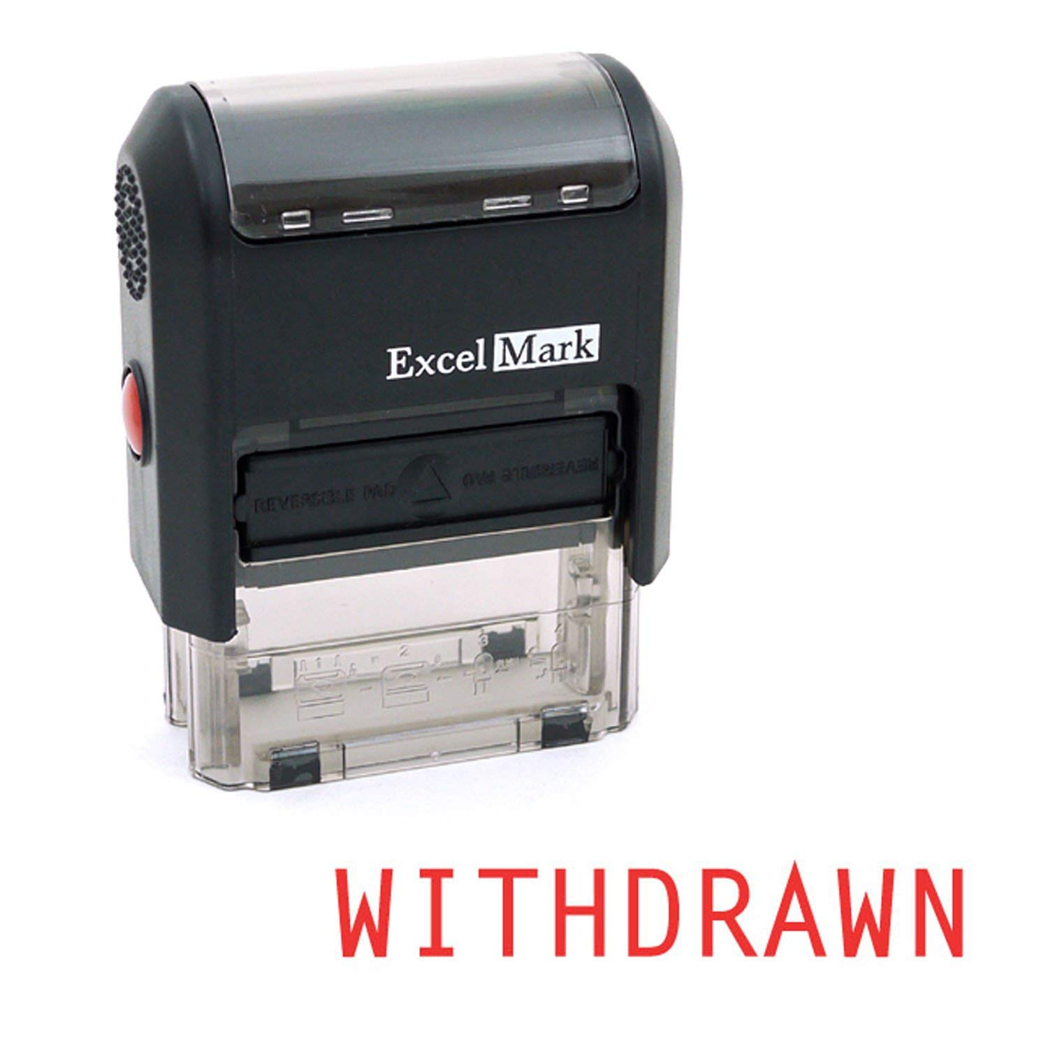 WITHDRAWN Self Inking Rubber Stamp - Red Ink (ExcelMark A1539)