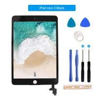 for iPad Mini 3 Touch Screen Digitizer/Front Glass Replacement with IC Chip & Tool Kit-Black 7.9 Inch