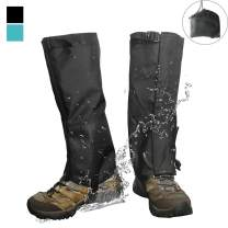 Frelaxy Leg Gaiters, Hiking Gaiters with Storage Bag Waterproof Snow Boot Gaiters Ultra Strong Anti-Tear 900D Oxford Fabric Ankle Leg Guard for Hunting Skiing Motorcycle Snowshoeing