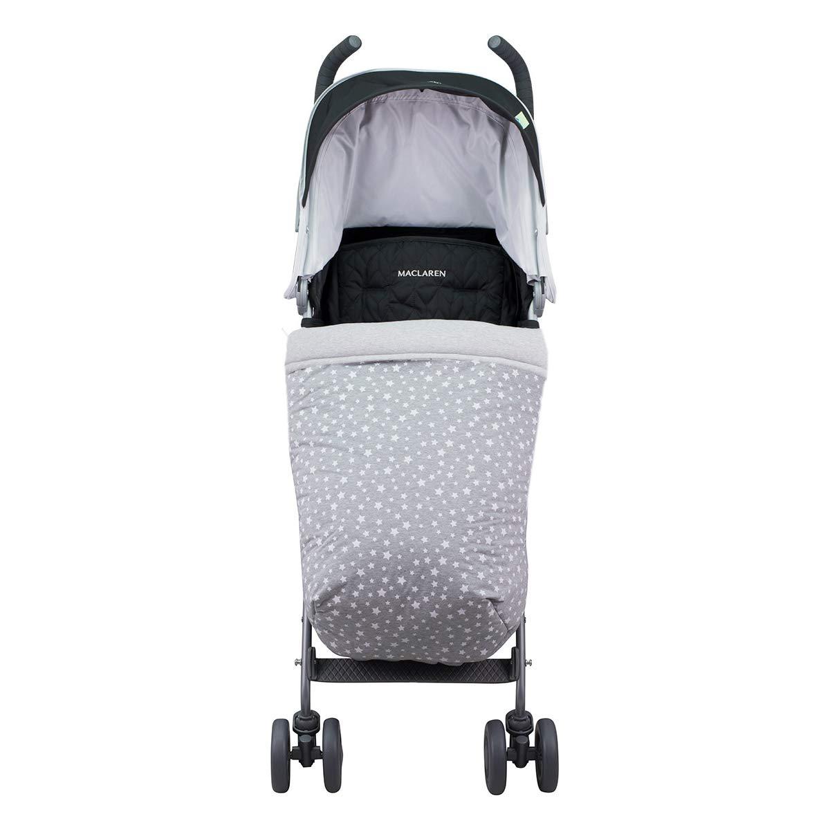 Janabebé Universal Baby Blanket Footmuff for Pushchairs (White Star, Cotton)