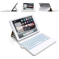 iPad Keyboard Case 9.7 - Thin & Light - Backlit 7 Color - Infinite Hinge - Auto Sleep/Wake - iPad 6th Generation Case with Keyboard - A1893 - A1954 (Tan)