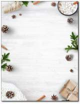 Minimal White Christmas Holiday Stationery - 80 Sheets - Great for Flyers, Invitations, or Letters