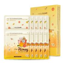 MOTHER MADE 2 Step Honey Citrus Spa Facials Kit Face Masks Pack of 5, Ultimate Korean Skincare Acne Treatment of Amazon Clay Mask and Deep Moisturizing Honey Sheet Mask with Natural Bentonite, Green Tea, Vitamin C, Hyaluronic Acid & Tea Tree, Cruelty-free, Alcohol-free