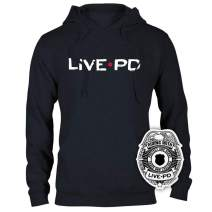 Live PD Logo Hooded Sweatshirt and Sticker Bundle - Officially Licensed Unisex Sweatshirt - Great Gift Fans