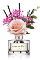 Cocod'or Rose Flower Reed Diffuser, Lovely Peony Reed Diffuser, Reed Diffuser Set, Oil Diffuser & Reed Diffuser Sticks, Home Decor & Office Decor, Fragrance and Gifts, 6.7oz