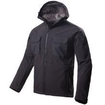 FREE SOLDIER Windproof Mountain Outdoor Hooded Softshell Jacket Fleece Lined Snowboarding Ski Jacket
