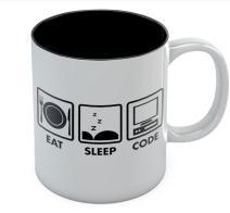 Eat Sleep Code Funny Coffee Mug Programmer Coffee Mug Office Cup Coding Nerd Programming Geek Gift Ceramic 11 Oz. Black