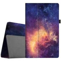 Fintie Folio Case for All-New Amazon Fire HD 10 Tablet (Compatible with 7th and 9th Generations, 2017 and 2019 Releases) - Premium PU Leather Slim Fit Stand Cover with Auto Wake/Sleep, Galaxy