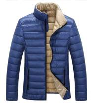 ZSHOW Men's Down Jacket Packable Stand Collar Down Outerwear Coat