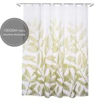 Ebecede Stall Shower Curtain or Liner 36 x 72, Green Leaf Fabric Shower Curtain for Bathroom Decor, Small Size Shower Curtain 72 inch Long, 6 Grommets