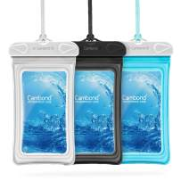"""Cambond Waterproof Phone Pouch, 3 Pack Floating Waterproof Phone Case, Water Proof Cell Phone Pouch Dry Bag for iPhone 11 Pro XS Max XR X 8 7 Plus Galaxy up to 6.5"""", Cruise Ship Beach Kayaking Travel"""