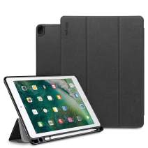 """Ringke Smart Cover Apple Pencil Stand Case Compatible for iPad Pro 2017 (10.5"""") Multi-Angle Tablet Stand with Pencil Storage and Stand Feature"""