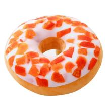 ChezMax Round Doughnut Donut Seat Back Stuffed Cushion Insert Filler Filling Throw Pillow Plush Play Toy Doll for Sleeping Office Afternoon Nap Doze Fruit Cake 16 X 16''