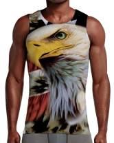 Men's America Print Eagle Sleeveless Tank Top Shirt XXL