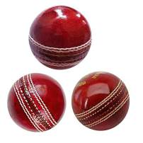 AnNafi Cricket Rubber Soft Balls for Practice A Grade Handstitched RED| Senior Official