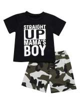 Seyouag Toddler Baby Boys Clothes Straight Up Mama's Boy T-Shirt and Pants Sweatsuit Pants Outfit Set
