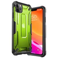 iPhone 11 Pro Max Case Clear Hard PC Cover Heavy Duty Military Grade Shockproof Drop Protection Phone Case Compatible for iPhone 11 Pro Max, 6.5 Inch 2019 - Green