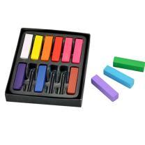 ELENKER Hair Chalk, Non-toxic Washable Temporary Salon Kit, 12 Bright Colors