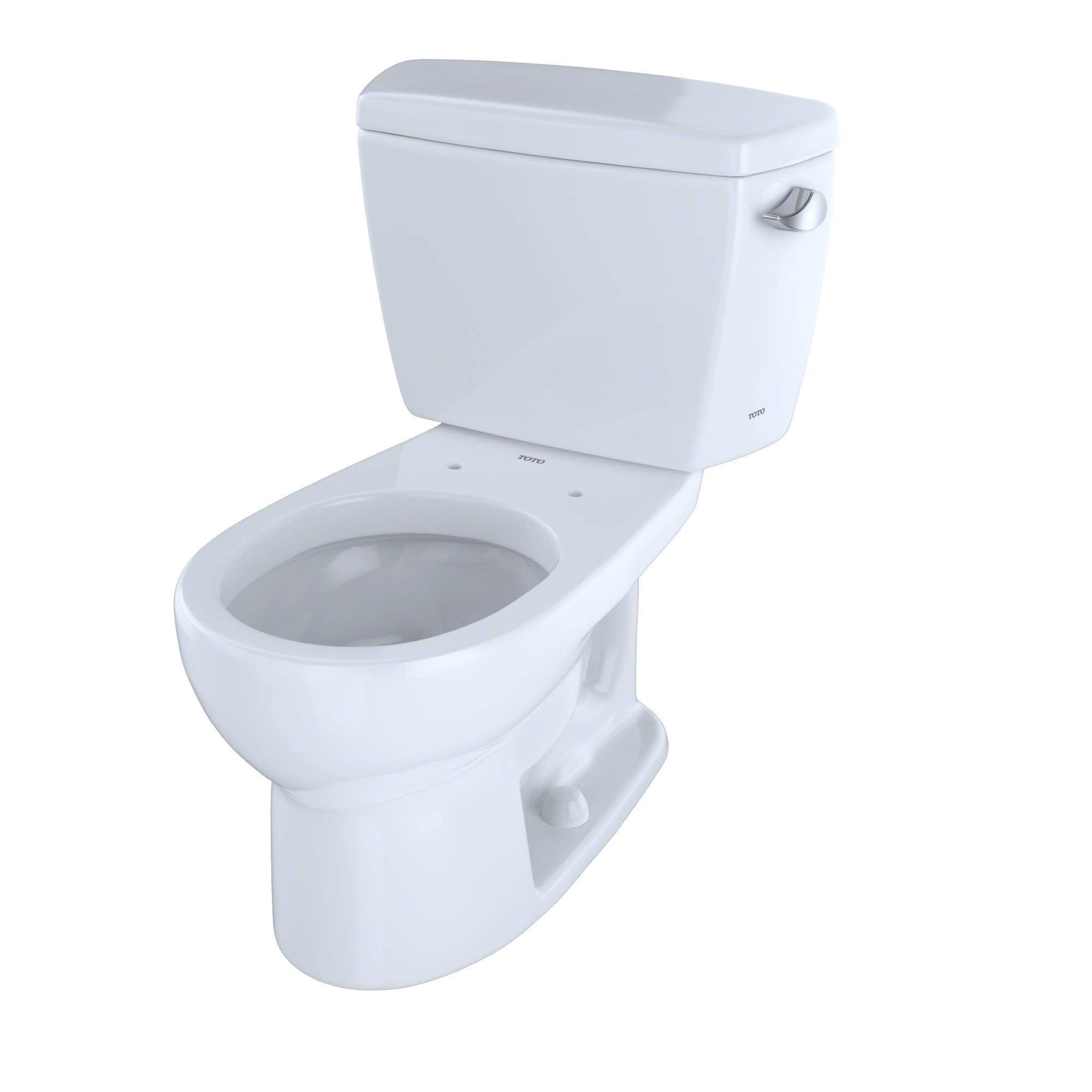 TOTO CST743SR#01 Drake 2-Piece Toilet with Round Bowl and Right Hand Trip Lever, Cotton White