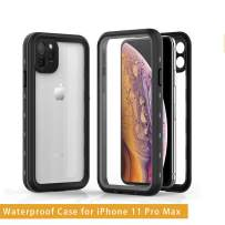 YOGRE iPhone 11 Pro Max Waterproof Case with Full Protected Built-in Anti-Scratch Screen and Heavy Duty Design, Waterproof Shockproof and Dust Proof Clear Phone Case for iPhone 11 Pro Max, 6.5 inch