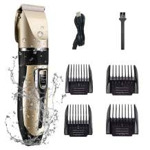 Iconites Professional Hair Clippers, Rechargeable Haircut Trimmer Set, Low Noise Hair Trimmer for Men/Kids/Baby Grooming Cutter Kit, Professional Hair Clippers with Guide Combs Brush for Novices