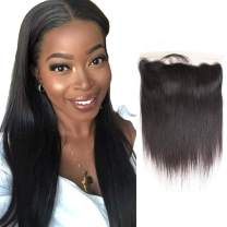 Alipearl Hair 8A Brazilian Human Hair Straight Hair 13x4 Lace Frontal Closure Free Part with Baby Hair Human Hair Extension Ali Pearl Hair(16)