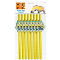 Despicable Me Minions Party Straws, 24ct
