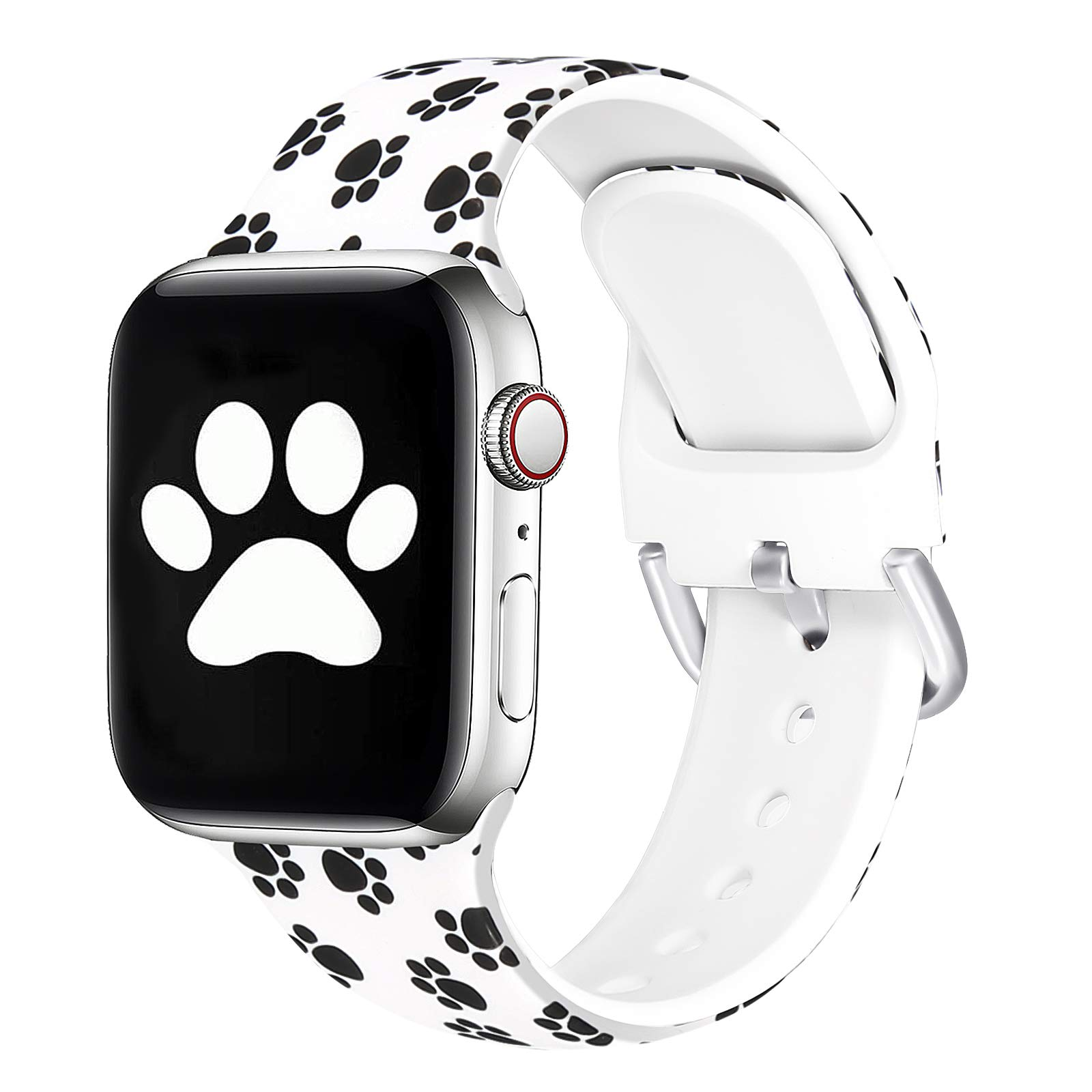SKYLET Bands Compatible with Apple Watch 44mm 42mm 38mm 40mm Women Men, Soft Floral Printed Pattern Straps Replacement Wristbands Compatible with Apple Watch Series 6 5 4 3 2 1 se