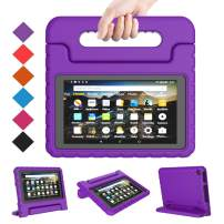BMOUO Kids Case for Amazon All New Fire 7 2019 - Light Weight Shock Proof Convertible Handle Stand Kids Case for All New Fire 7 Tablet (9th Generation, 2019 Release), Purple