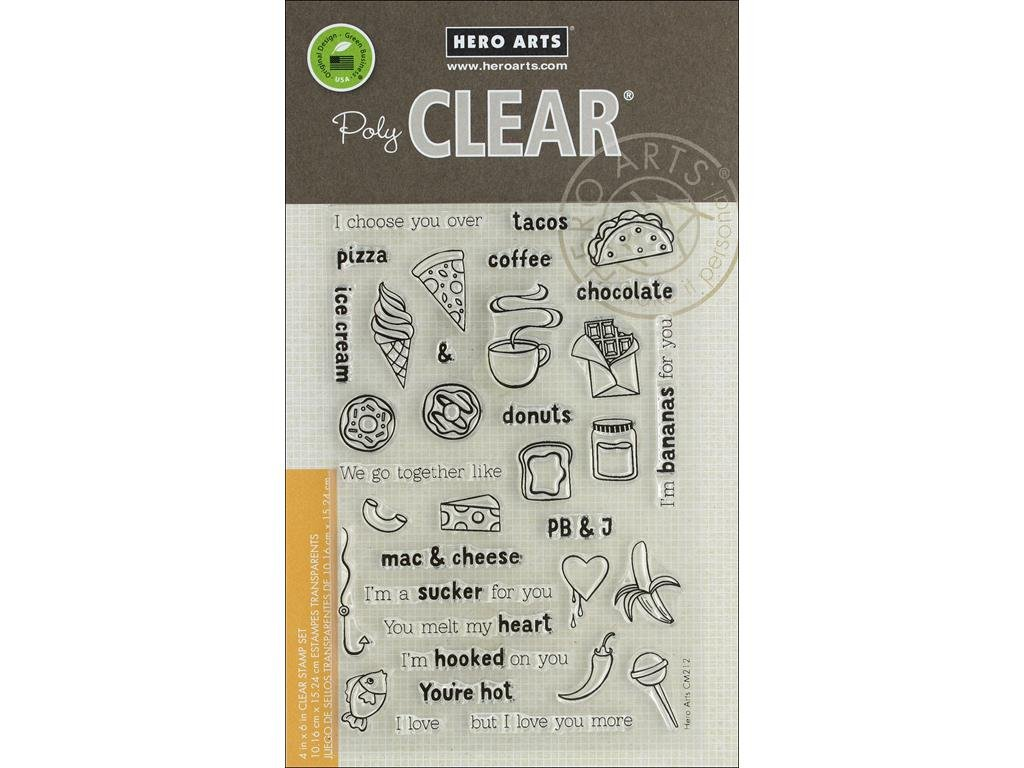 Hero Arts CM212 We Go Together Clear Stamp