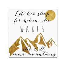 Mountains by Color Bakery, 18x18-Inch Canvas Wall Art