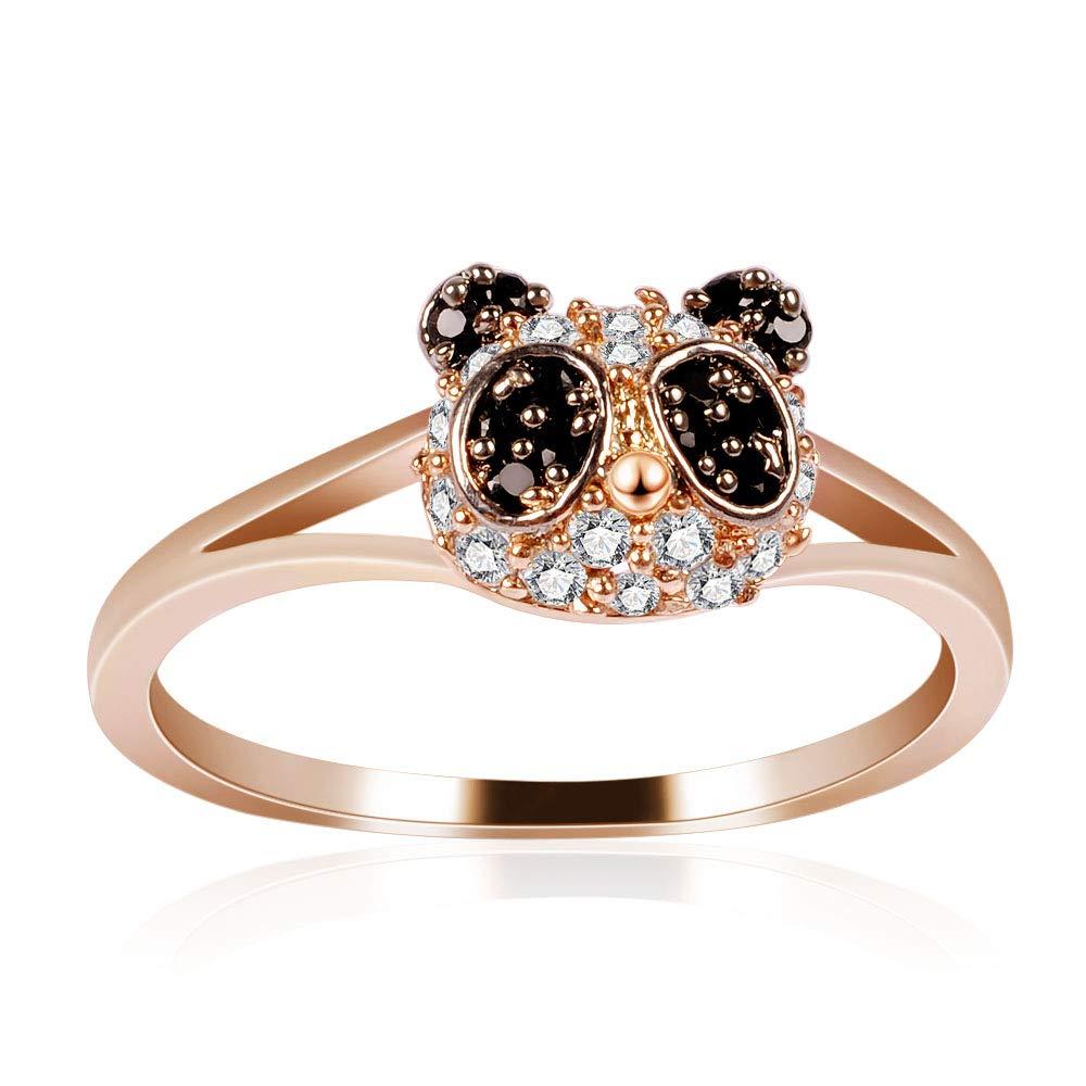 Twenty Plus Cute Panda Animal Look Band Style Rings Birthday Jewelry Gifts for Women