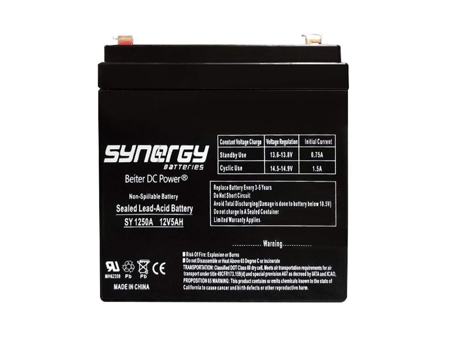 Replacement for WKA12-5F - 12 Volt 5 ah Battery Beiter DC Power