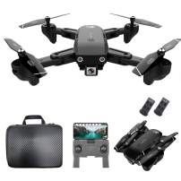 GoolRC CSJ S166 GPS RC Drone with 720P HD Camera Follow Me Auto Return WiFi FPV Live Video Gesture Photos RC Quadcopter for Adults with 2 Battery and Handbag