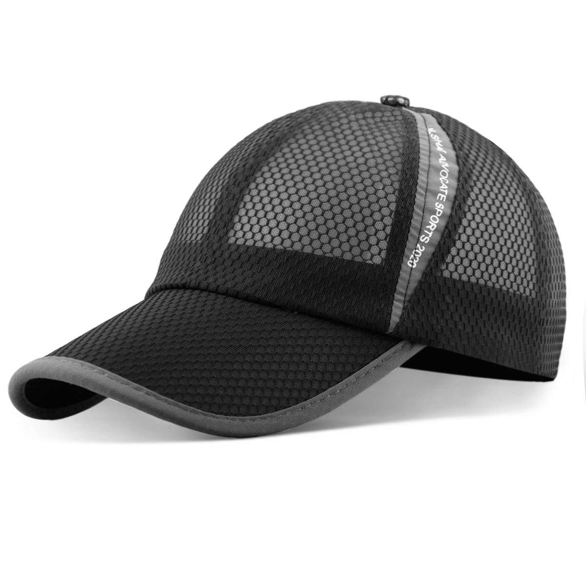 ELLEWIN Unisex Breathable Quick Dry Mesh Baseball Cap Running hat