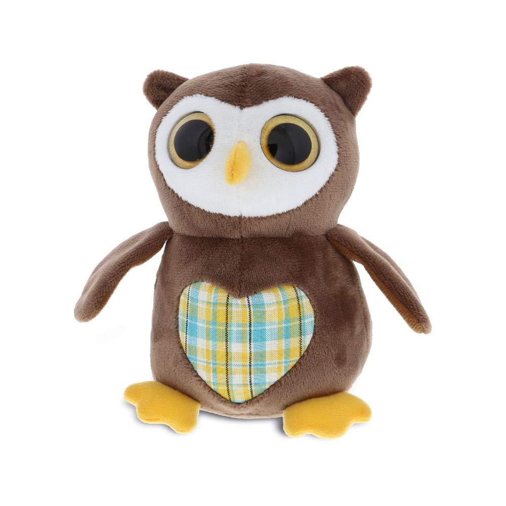 Dollibu Sparkling Big Eye Owl Wild Stuffed Animal Soft Plush Collection, Storytime Buddy, Animal Bird Toy, Cuddle Plush Pet Figure, Peekaboo Critters, Nursery Baby Toys for Girls & Boys -Small Owl