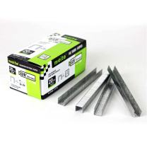 meite 20 Gauge 10J Series 7/16-Inch Crown 3/8-Inch Leg Length Galvanized Fine Wire Staples Upholstery Staples (5000pcs/Box) (1-Case Pack(24 Boxes))