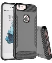 iPhone 7 Case,iPhone 6S Case,iPhone 6 Case,Spevert Dual Layer Hybrid Hard Back Soft TPU Raised Edge Shock Absorption Protective Case Compatible for iPhone 7/6/6S 4.7 inches - Black