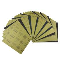 Wet Dry Sandpaper 60 to 2500 Grit Assortment Abrasive Paper Sheets For Automotive Sanding Wood Furniture Finishing.35 Pcs mixing