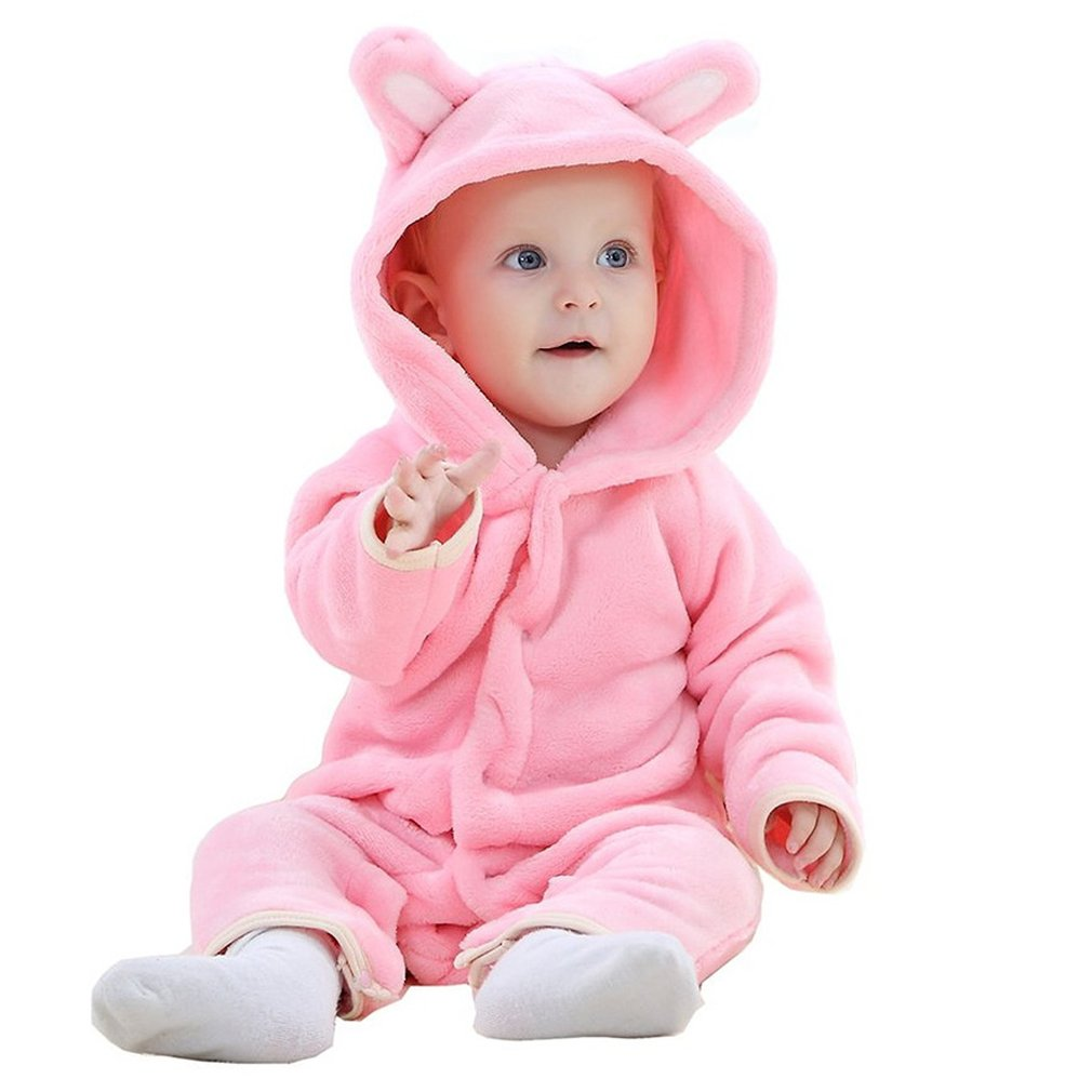 MICHLEY Baby Girls Boys Romper Bear Style Jumpsuit Autumn & Winter Cosplay Clothes