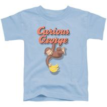 Popfunk Curious George Hanging Out Toddler T Shirt & Stickers