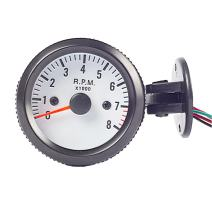 "ESUPPORT Car 2"" 52mm Tacho Gauge Meter Tachometer RPM Pointer Blue LED Light"