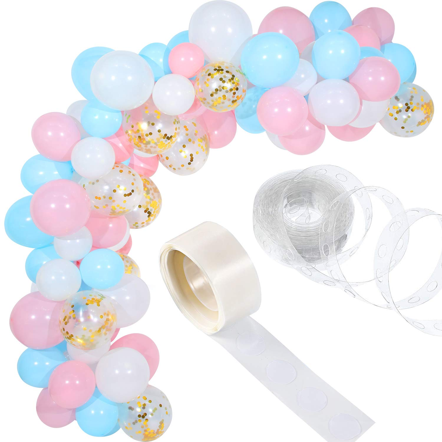 Tatuo 112 Pieces Balloon Garland Kit Balloon Arch Garland For Wedding Birthday Party Supplies Balloons