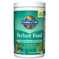 Garden of Life Perfect Food Super Green Formula, 30 Servings, 45 Superfoods, Greens, Fruit & Veggie Juice Superfood Powder Supplement, Organic Spirulina Digestion & Immune Health *Packaging May Vary*